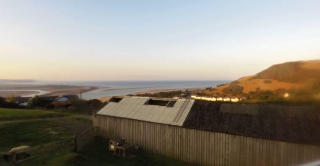 View from the Aberdovey Farm Caravan