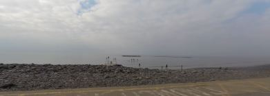 Borth paddle boarders becalmed