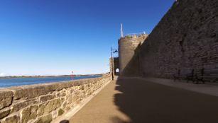 Passing Caernarfon Castle
